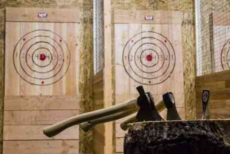 Target Sports World - Axe Throwing or Air Gun Shooting for Up to Four - Save 24%