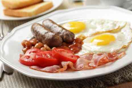 LUV Baguette - Full English or Veggie Breakfast with Toasts and Coffee for Up to Four - Save 24%