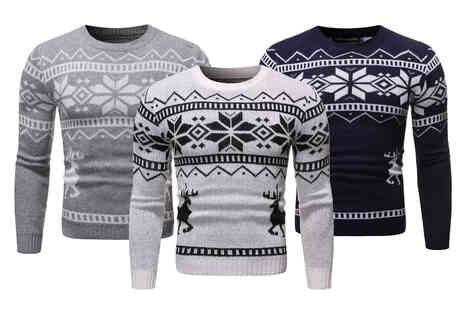 I Nod - Mens knitted Christmas sweater - Save 75%