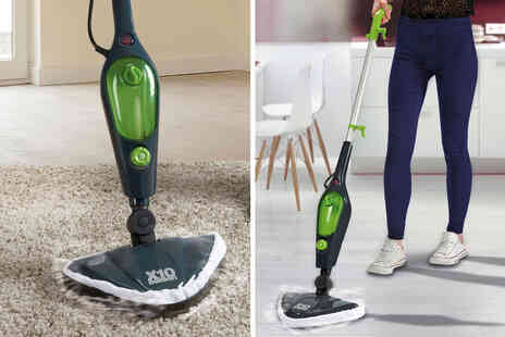 CJ Offers - Easy Steam steam mop with two spare microfibre cloth pads - Save 40%