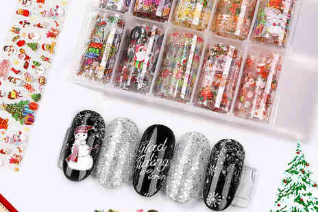I Nod - Christmas fingernail transfer stickers set - Save 82%