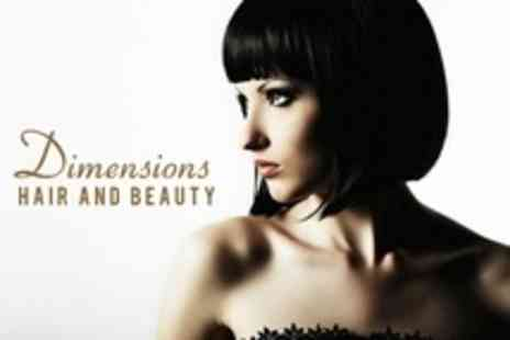 Dimensions Hair and Beauty - Full Head Colour or Half Head Highlights With Restyle, Conditioning Treatment - Save 67%