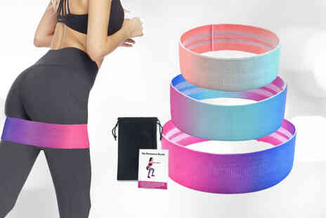 Yello Goods - Set of three exercise booty bands - Save 45%