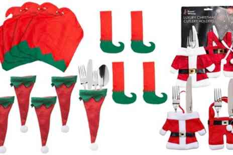 Groupon Goods Global GmbH - Christmas Cutlery Holder and Table and Chair Cover Sets - Save 65%