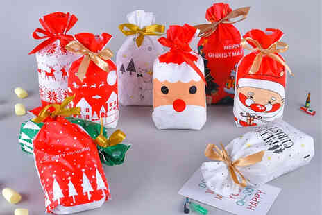 I Nod - 50 pack of Christmas gift bags - Save 69%