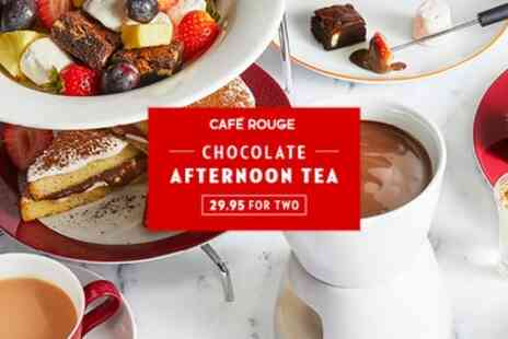 Cafe Rouge - Chocolate Afternoon Tea for Two - Save 0%