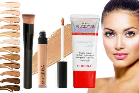 Forever Cosmetics - Phoera foundation concealer and foundation brush - Save 69%