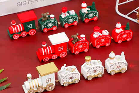 I Nod - Wooden Christmas train ornament - Save 61%