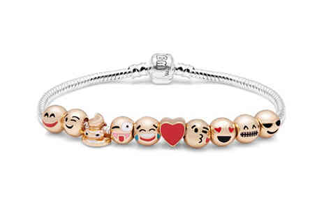 Vivo Mounts - Emoji charm bracelet with 10 charms in junior or adult sizes - Save 59%