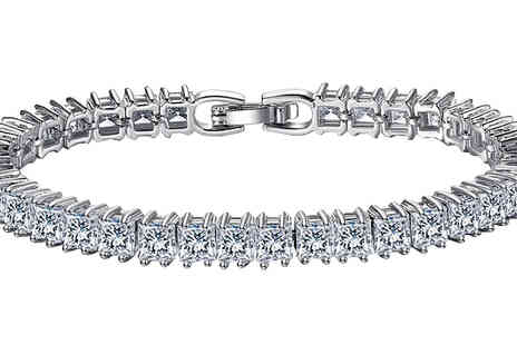 Your Ideal Gift - 7ct Simulated Sapphire Square Tennis Bracelet - Save 94%