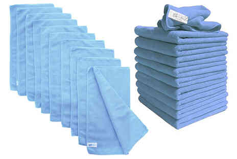 Vivo Mounts - Pack of 10 blue microfibre dusters - Save 70%