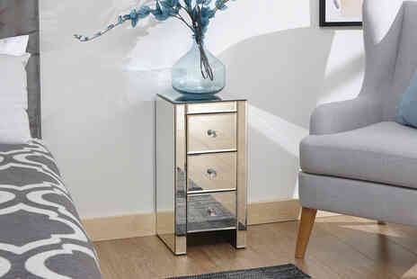Wowcher Direct - Two drawer mirrored slim chest - Save 52%