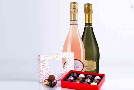Wines Online - Prosecco hamper with two bottles of Prosecco and one box of luxury Whitakers chocolate truffles - Save 52%