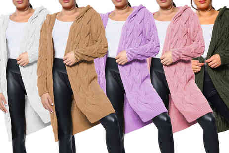 Want Clothing - Womens long hooded chunky cardigan - Save 0%