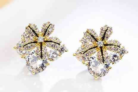 Your Ideal Gift - Starflower Crystal Swarovski Earrings - Save 86%