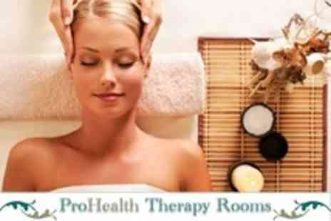 ProHealth Therapy Rooms - One Hour Holistic Package Including Reflexology Plus Indian Head Massage - Save 10%