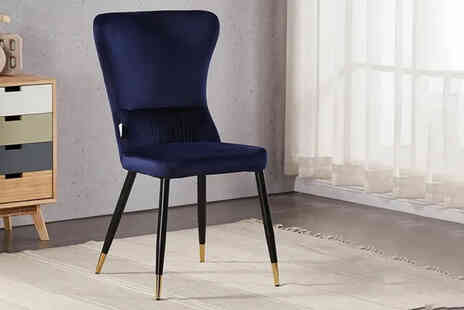 My Home Furniture - Velvet chair - Save 47%