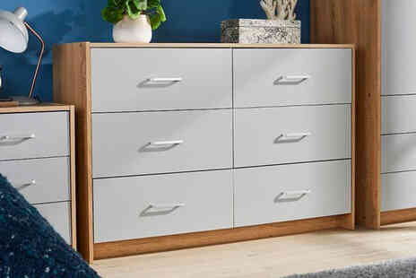 Big Furniture Warehouse - Six drawer chest - Save 0%