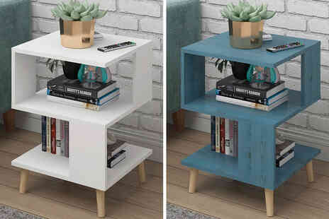 Furniture Living - Set of two Anders bedside cabinets - Save 63%