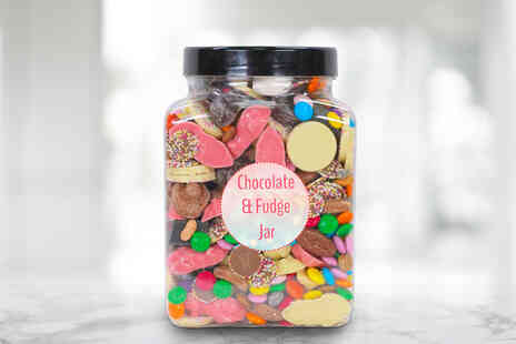 Posted Sweets - 1.7kg chocolate and fudge pick & mix jar - Save 0%