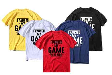 Magic Trend - I paused my game T-shirt - Save 60%