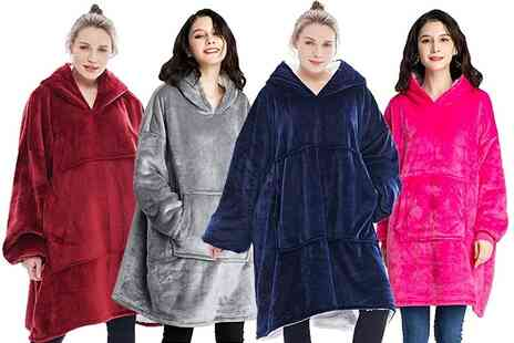 Secret Storz - Super soft hooded fleece in pink, blue, red or grey - Save 58%