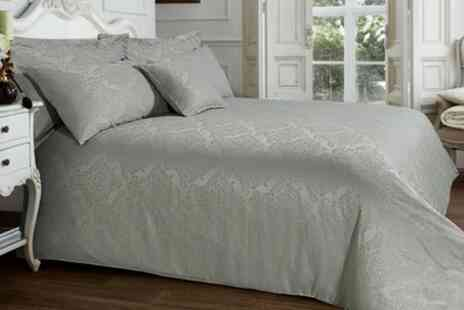 Groupon Goods Global GmbH - Jacquard Duvet Cover Set - Save 75%