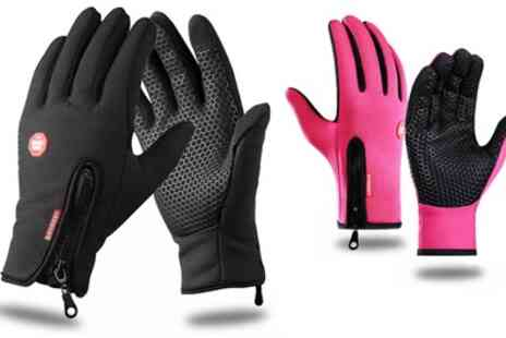 Groupon Goods Global GmbH - Softshell Cycling Touchscreen Gloves - Save 0%