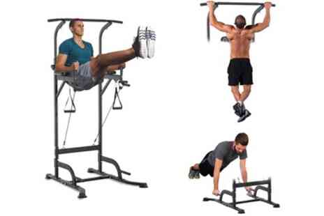 Groupon Goods Global GmbH - Multifunctional Height Adjustable ABS Dip Station With Free Delivery - Save 0%