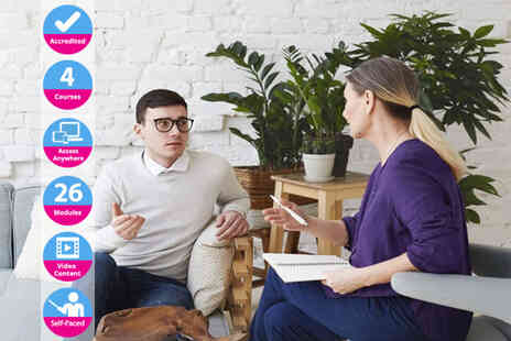 Lead Academy - Online psychology, counselling, psychotherapy and anxiety management course bundle - Save 0%