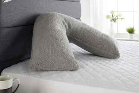 Groupon Goods Global GmbH - Downland Fluffy Fleece V Pillow - Save 0%