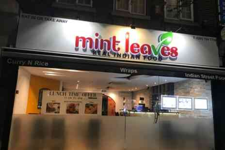 Mint Leaves Real Indian Food - Up to 34% Off Food Delivery or Takeaway Service for Two or Four - Save 35%
