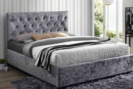 FTA Furnishing - Double tufted headboard bed frame - Save 47%