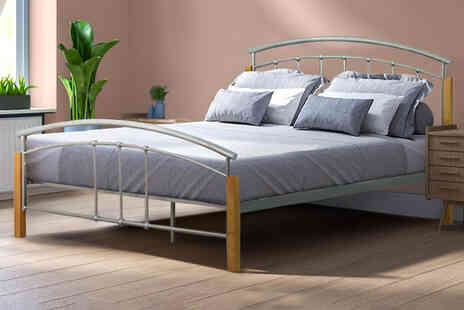 SUKFurniture4u - Madeira metal bed - Save 77%