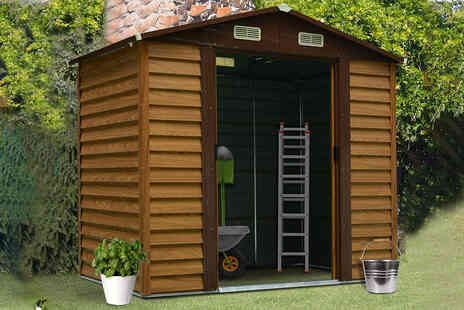 Mhstar - 6ft x 7ft metal garden shed - Save 50%