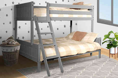UK Furniture 4 U - Triple wooden bunk bed frame - Save 52%