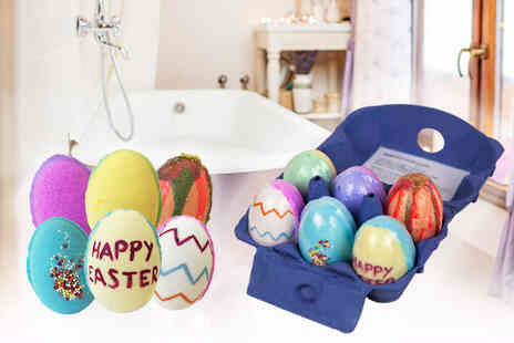 Bathtime Boutique - Six pack of Easter egg bath bombs - Save 73%