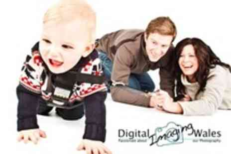 Digital Imaging Wales - Family Photoshoot With Online Viewing Gallery and Two Prints - Save 86%