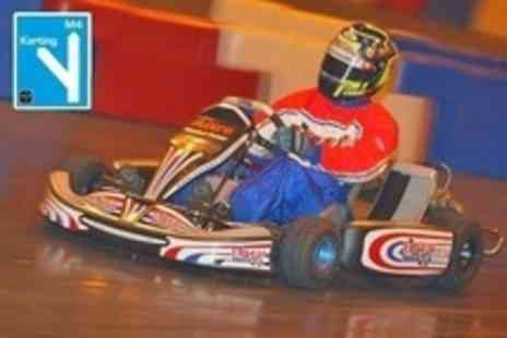 M4 Karting - 50 Go Karting Laps With Balaclava and Soft Drink For One - Save 55%