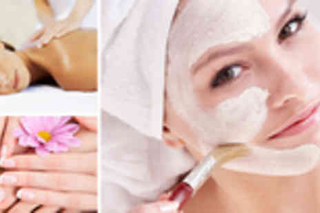 Essentials Beauty - Beauty pamper package: massage and facial with a manicure or pedicure - Save 72%
