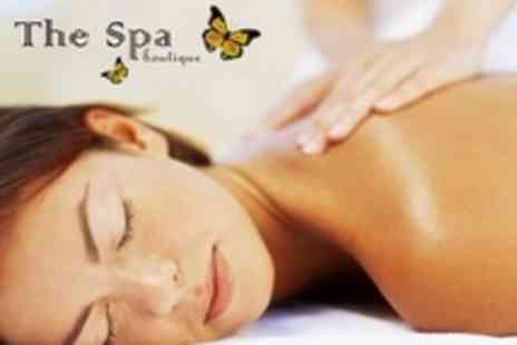The Spa Boutique - Microdermabrasion Facial and Hot Lava Shell Back, Neck and Shoulder Massage - Save 68%