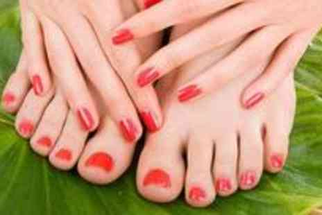 Lubna Celebrity Styles - Luxury manicure with a relaxing hand massage and a pedicure - Save 68%