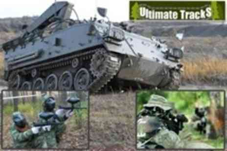 Ultimate Tracks - Tank Paintballing For Two With 100 Paintballs Each - Save 77%