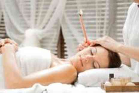 Essential Beauty - Hopi ear candle treatment with sinus drainage and a pressure point head massage plus a choice of 35-minute Swedish or aromatherapy back neck and shoulder massage - Save 75%