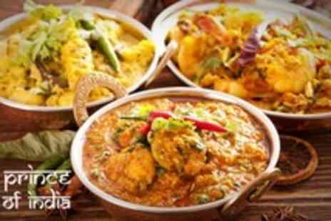 Prince of India - Two Course Indian Meal With Rice For Two - Save 67%