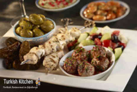 Turkish Kitchen - Turkish meal for 2 including starters, mains plus desserts or coffee - Save 66%