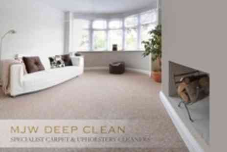 MJW Deep Clean - Carpet Cleaning With Stainguard Treatment - Save 73%