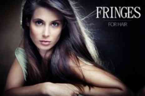 Fringes For Hair - Cut, Style and Blow Dry With Conditioning Treatment and Head Massage For One - Save 58%