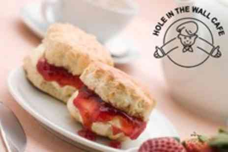 Hole in the Wall Cafe - Afternoon Tea For Two or Four - Save 50%