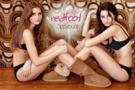 Redfoot Shoes - Australian Sheepskin Zippyboots in Black, Chocolate or Tan - Save 62%